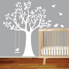 baby room decals for walls baby nursery white vinyl tree wall decal bird with swing wall