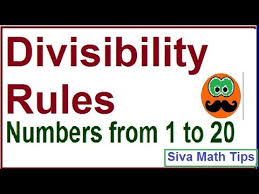 Divisibility Rules Chart Pdf Divisibility Rules For The Numbers 1 To 20 Divisibility Rules Of 7 Divisibility Rules Of 19