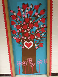 Exellent Classroom Door Decorations Tree Full Of Hearts Makes Great Day For Impressive Design
