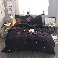 flannel comforter cover queen autumn winter star flannel duvet cover set queen king size bedding set flannel comforter cover queen