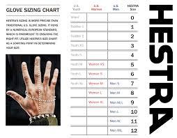 Glove Size Chart Hestra Losos