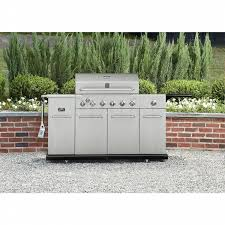 kenmore gas grill. kenmore 6 burner stainless steel front gas grill with smoker