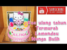 Cake Birthday Hello Kitty Kue Ulang Tahun Simple Beautiful And
