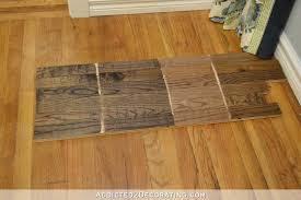 Testing Minwax Stain Colors For Hardwood Floor Red Oak
