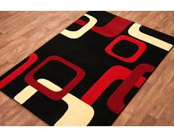 red and cream rug black and red kitchen rugs red black cream rug
