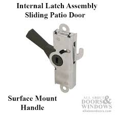 adams rite internal latch assembly surface mount handle sliding patio door latch assembly