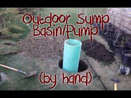 outdoor sump pump. Digging An Exterior Sump Pump Basin (Shallow Well) By Hand Outdoor 0