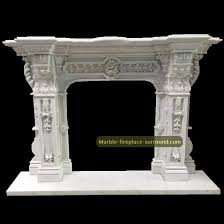 antique fireplace mantels white marble