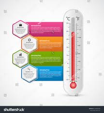 Thermometer Design Infographics Thermometer Design Template Vector Illustration