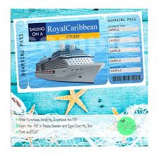 Cruise Gift Certificate Template Royal Caribbean Cruise Printable Ticket Boarding Pass