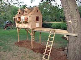 diy tree house tree house for kids diy treehouse slide