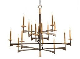 lateral arch 16 light brass chandelier