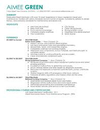 Resume Examples Mechanic Best Diesel Mechanic Resume Example LiveCareer 22