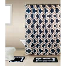 on home dynamix 18 piece bath boutique shower curtain and bath rug set lattice gray