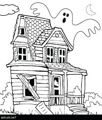 Monster House Coloring Pages Haunted Free Printable Sheets Fo