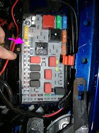 general blower heater fuse location the fiat forum the earlier rectangular box looks like this it s