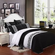 black and white 5 star hotel style wide stripes and animal zebra print 100 cotton full queen size bedding duvet cover sets
