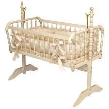 vintage nursery furniture. Antique Spindle Cradle In Versailles Finish Vintage Nursery Furniture R