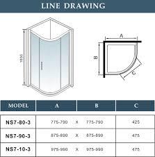 shower enclosures sizes. Wonderful Sizes Offset Quadrant Shower Enclosure U0026 Tray Corner Cubicle Glass Screen Single  Door  EBay Intended Enclosures Sizes E