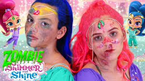 shimmer and shine zombie makeup tutorial costume tutorial