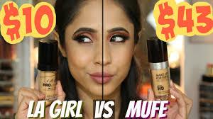 new la pro foundation warm beige vs make up for ever ultra hd mac nc40 nc42
