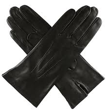dents las unlined short leather gloves black