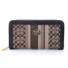 Best Style Coach Legacy Accordion Zip In Signature Large Navy Khaki Wallets  Egn Outlet l4TL1