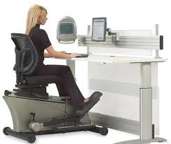 unusual office desks. furniture charming girl is working with some important files terrific the elliptical machine office desk unusual desks