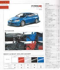 2002 Honda Integra Type R Sticker Brand Honda Integra