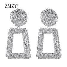 Zara Golden Raised Design Earrings Zmzy New Design Fashion Golden Raised Design Earrings Bohemian Wedding Jewelry Statement Hot Sale Dangle Drop Earring For Women