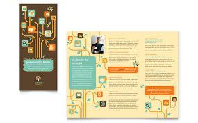 Technology Tri Fold Brochure Templates