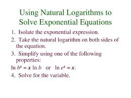 isolate the exponential expression