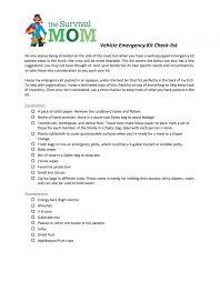 Emergency List Heres Your Super Vehicle Emergency Kit List Survival Mom