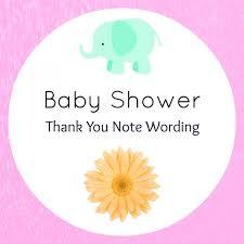 baby shower thank you wording handmade gift