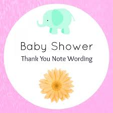 baby shower thank you wording handmade gift