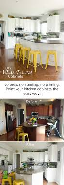 how to paint kitchen cabinets white with no prep using chalk paint powder