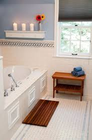 view in gallery teak bath mat