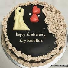 Happy Anniversary Cake With Photo Edit Name Birthdaycakeformancf