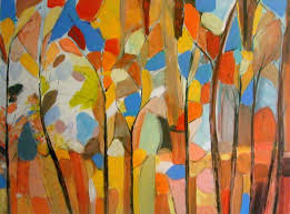 saatchi art perfect summer abstract trees painting by brenda meynell