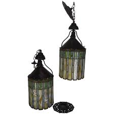 i p frink stained glass hanging light fixtures 1