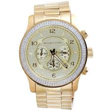 new michael kors gold tone mens diamond watch mk8077 runaway new michael kors gold tone mens diamond watch mk8077 runaway series 45mm 1 5 ct