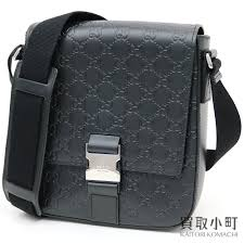 kaitorikomachi take gucci gucci signature leather messenger bag black gg calf slant men s shoulder gucci sima 473877 cwcbn 1000 signature leather shoulder