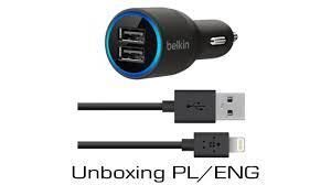 Belkin 2 Port Car Charger Unboxing PL ENG