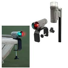 Portable Navigation Lights For Small Boats Attwood Paddlesport Portable Navigation Light Kit C Clamp Screw Down Or Adhesive Pad Gray