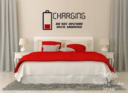 charging stickers bedroom art wall black stained battery unique incredible stickers contemporary