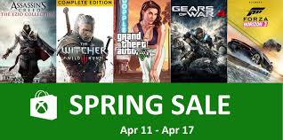 Xbox Live Spring Sales And Deals With Gold Apr 11 Apr 17 Zeebfish