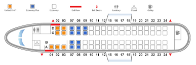 United Plane Seating Chart Bombardier Q400 Seat Map Seating Chart Flyradius