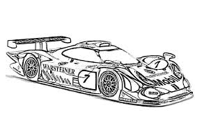 Race Car Coloring Pages The Sun Flower Pages