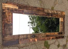 wood wall mirrors. Upcycled Pallet Wall Mirror Wood Mirrors