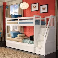 bunk bed with stairs for girls. White Morgan Stair Twin Bunk Bed With Stairs For Girls R